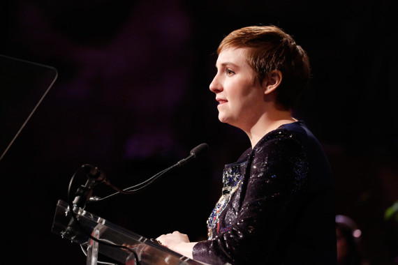 NEW YORK, NY - APRIL 24: Honoree Lena Dunham speaks onstage at Variety's Power of Women New York presented by Lifetime at Cipriani 42nd Street on April 24, 2015 in New York City. (Photo by Brian Ach/Getty Images for Variety)
