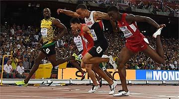 Usain Bolt dá susto, mas avança à final nos 100m; Gatlin faz 2º melhor tempo do ano