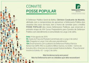 Defensoria Pública da Bahia promove 1ª posse popular de novos defensores públicos