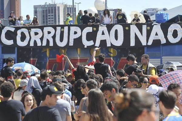 O Movimento Brasil Contra a Corrup‹o, grupo apartid‡rio realiza Marcha Contra a Corrup‹o na Esplanada dos Ministerios