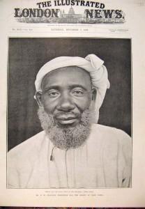 Tippu Tip, poderoso comerciante de escravos de Zanzibar, no séc. XIX.