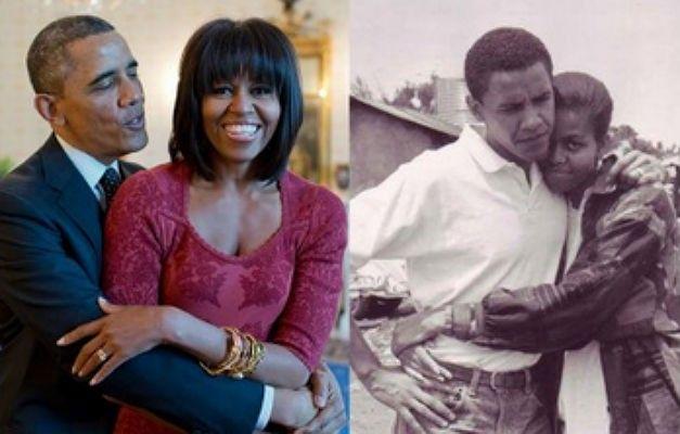Tuíte veio acompanhado de uma foto dos dois jovens, ainda em preto e branco, e uma atual. (Fotos: The White House/Fotos Públicas)