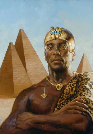 Representação de Piye, o Faraó Negro. (Fonte: National Geographic)