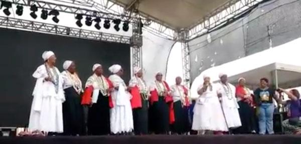 Irmandade da Boa Morte realizou a cerimônia de abertura da Marcha das Mulheres Negras