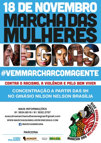 20 mil mulheres negras marcham para Brasília 18 de novembro.