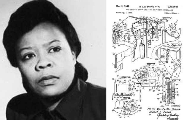 A americana Marie Van Brittan Brown (1922 - 1999) inventou o circuito fechado de TV para sistema de segurança
