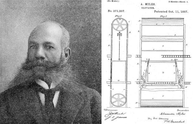 O americano Alexander Miles (1838 -1918) é conhecido por ser o inventor do elevador.