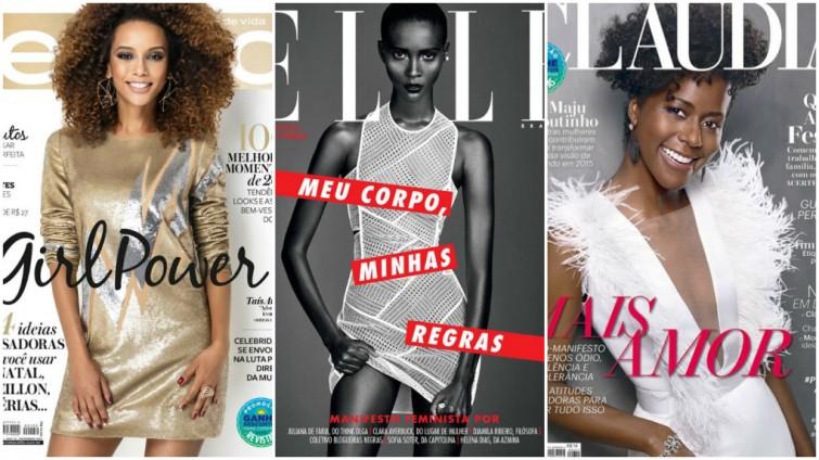 Três grandes revistas femininas estão com mulheres negras poderosas em suas capas