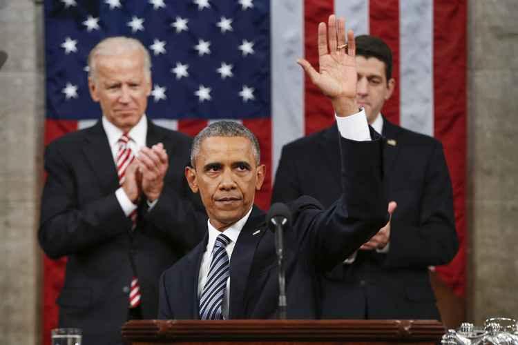 E em um momento de franqueza, Obama lamentou as divisões políticas em Washington