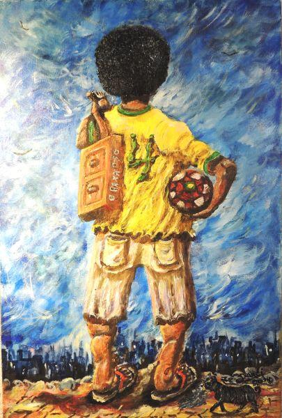 Mostra explora memória e identidade da cultura negra com telas de Zé Darci