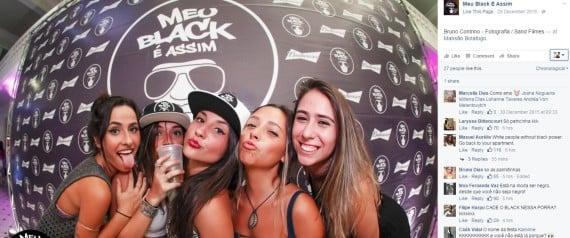 Página da festa'Meu Black é Assim' recebe milhares de críticas por ironicamente não ter negros | Reprodução/Facebook
