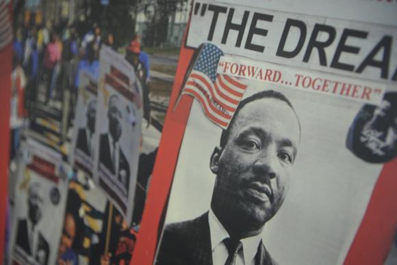 A mostra itinerante Martin Luther King – Legado & Inspiração fica em cartaz até 31 de março, na Biblioteca Parque Estadual (Foto: Fernando Frazão/Agência Brasil)