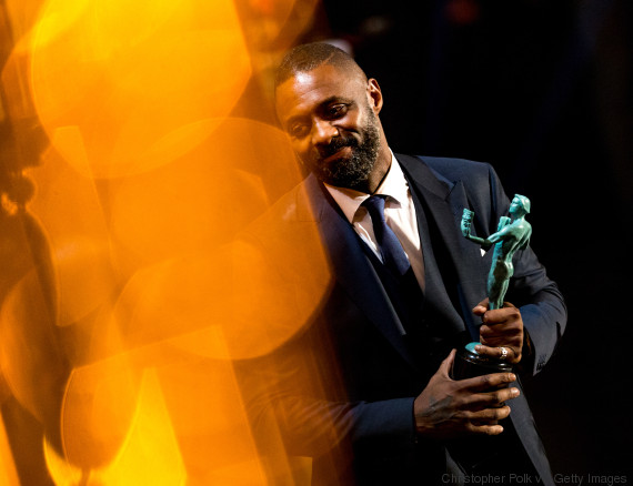 LOS ANGELES, CA - JANUARY 30: (EDITORS NOTE: This image has been altered digitally) Idris Elba receives the award for Outstanding Performance by a Male Actor in a Supporting Role for'Beasts of No Nation' onstage during The 22nd Annual Screen Actors Guild Awards at The Shrine Auditorium on January 30, 2016 in Los Angeles, California. (Photo by Christopher Polk/Getty Images for Turner)