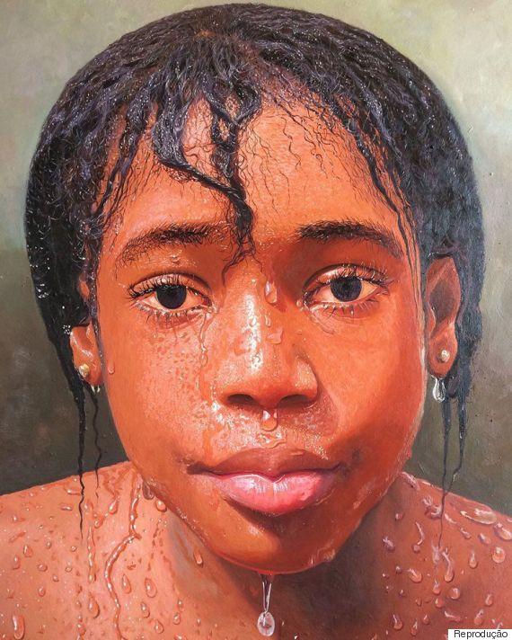 Este pintor nigeriano faz obras de arte hiper-realistas que parecem fotografias de verdade