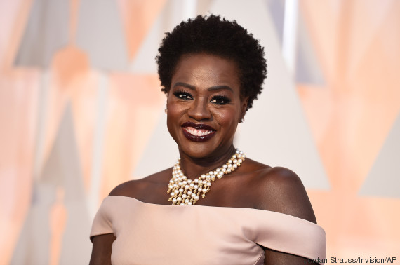 Viola Davis arrives at the Oscars on Sunday, Feb. 22, 2015, at the Dolby Theatre in Los Angeles. (Photo by Jordan Strauss/Invision/AP)