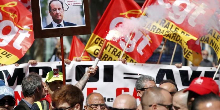 Milhares de pessoas marcham em Paris no maior protesto contra a reforma trabalhista