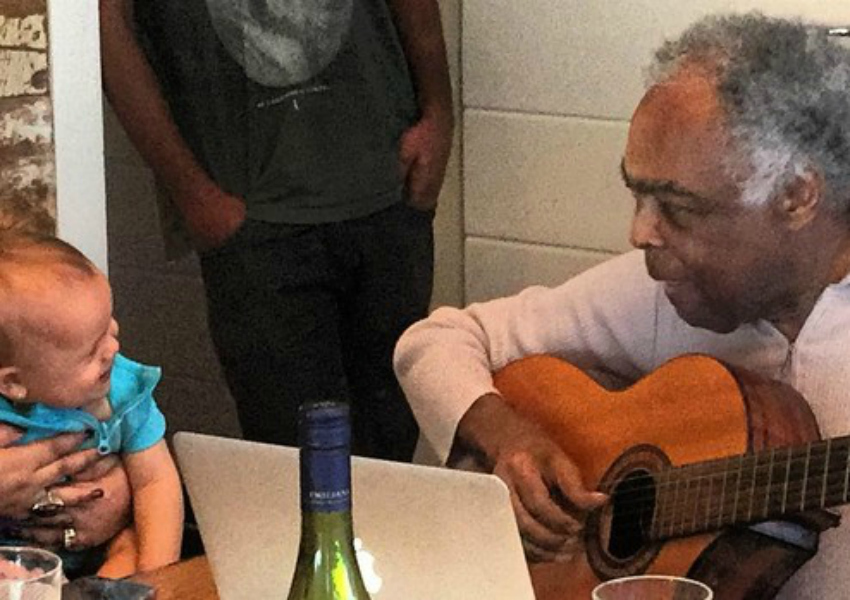 Gilberto Gil faz música para bisneta e Preta Gil posta vídeo