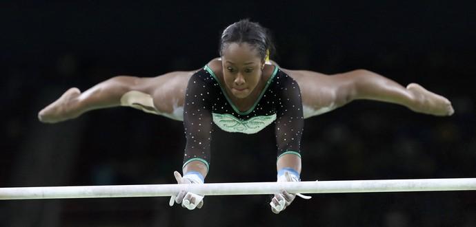 Com pose inspirada em Bolt, a jovem Toni-Ann Williams é a 1ª jamaicana da ginástica em Jogos
