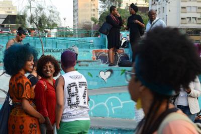 São Paulo - Concentração de ato organizado pela Marcha das Mulheres Negras contra o racismo, o machismo, o genocídio e a lesbofobia, na praça Roosevelt, região central da capital paulista (Rovena Rosa/Agência Brasil)