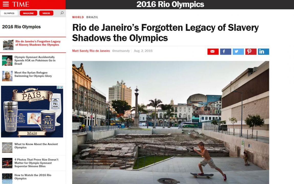'Time' comenta o 'esquecido legado' da escravidão no Rio de Janeiro