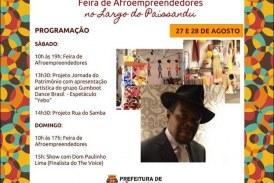 Feira de Afroempreendedores no Largo do Paissandú 27 e 28 de agosto