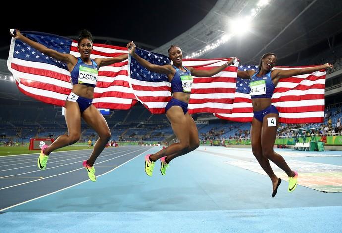 Trio dos EUA voa sem recordista mundial: ''Medalha ninguém tira''