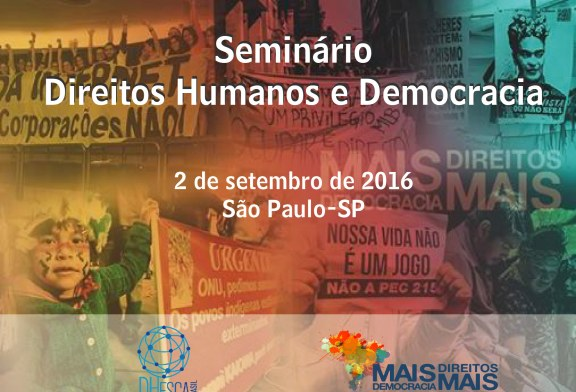 """""""Seminário Direitos Humanos e Democracia"""""""