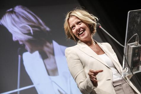 Italian Health Minister Beatrice Lorenzin speaks at centro Congressi Roma Eventi during the ''Fertility Day'' in Rome 22 September 2016. In conjunction with the Minister's speech Beatrice Lorenzin there have been protests against the 'Fertily Day'. ANSA/GIUSEPPE LAMI