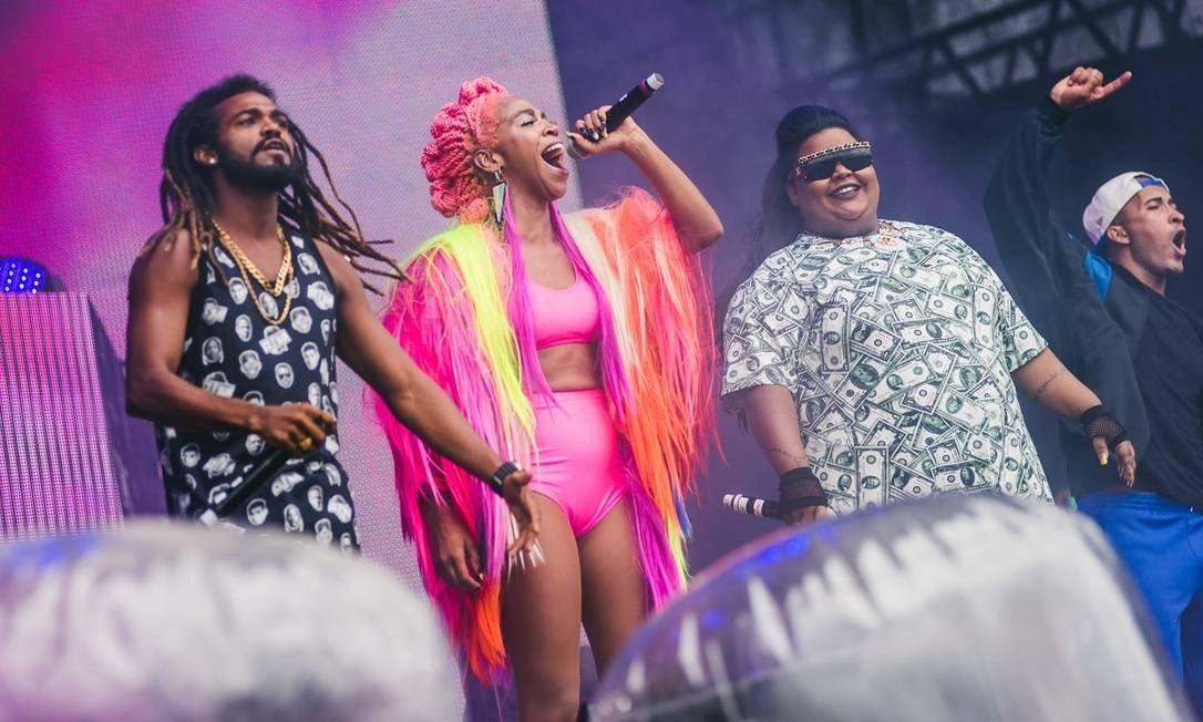 Karol Conká e MC Carol em show no Lollapalooza (Foto: Divulgação/I Hate Flash)