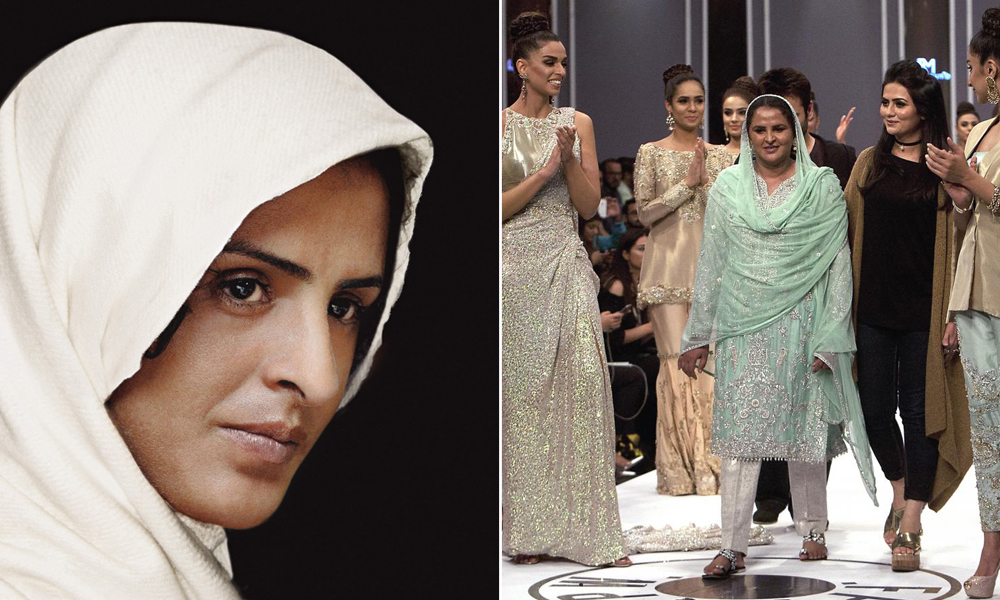 Vítima de estupro coletivo desfila em semana de moda do Paquistão