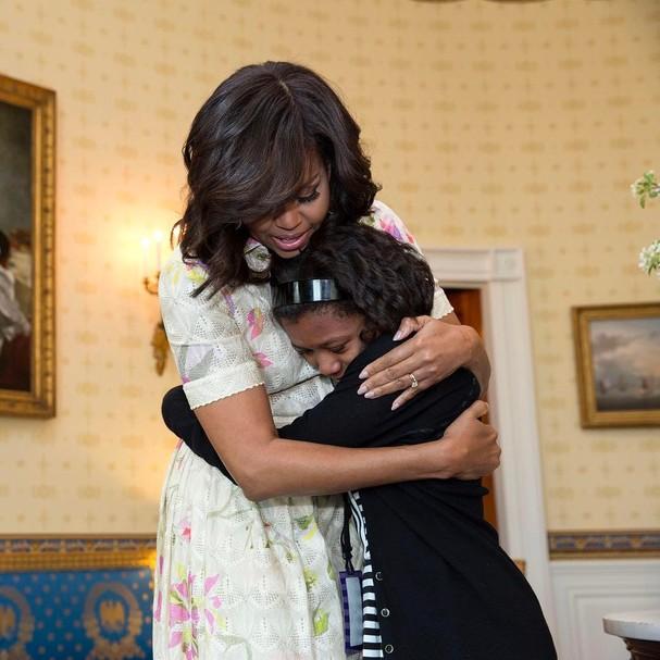 A primeira foto na conta de Michelle Obama (Foto: Reprodução Instagram)