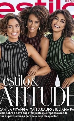 No mês do Dia Internacional da Mulher, revista une Camila Pitanga, Taís Araújo e Juliana Paes em capa