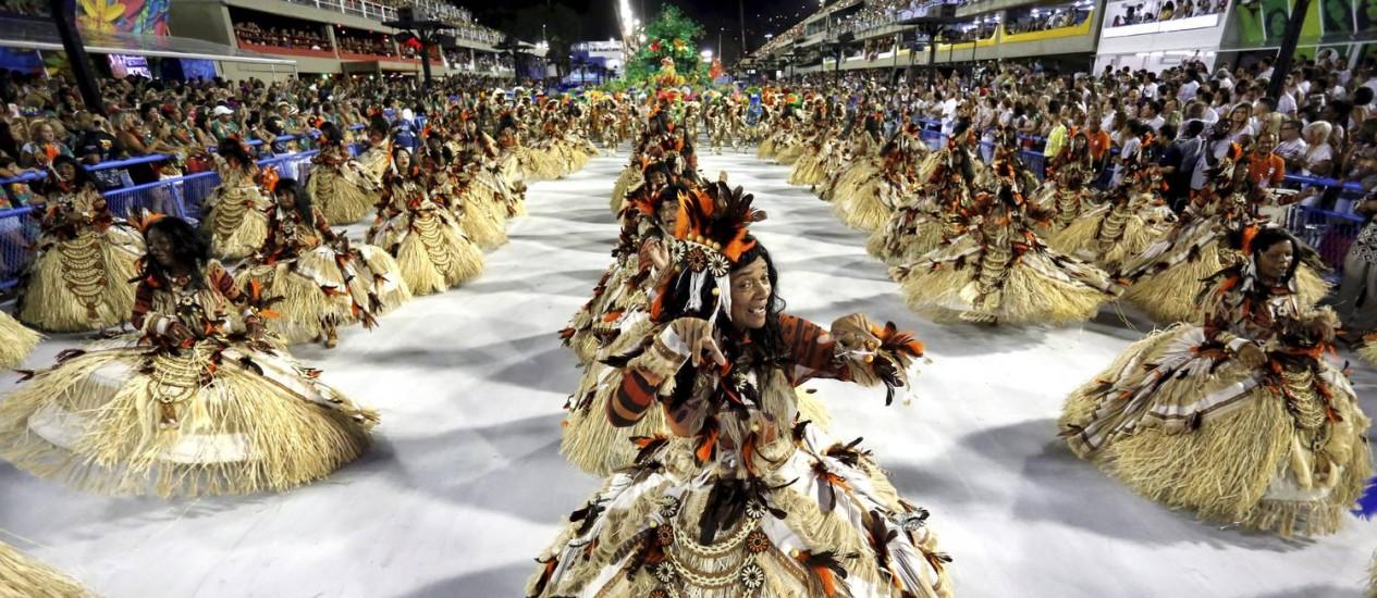Portela fecha a noite no Desfile das Campeãs, na Sapucaí