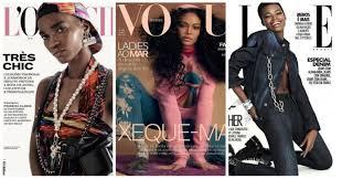 A beleza negra está em destaque nas capas de 3 revistas de moda do Brasil. E isso é ótimo