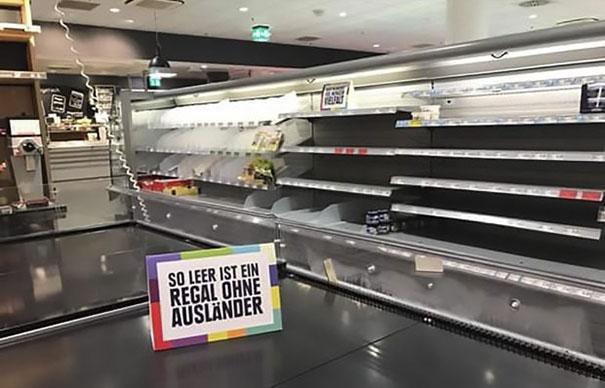 Supermercado alemão retira todos os produtos estrangeiros das gôndolas por um motivo nobre