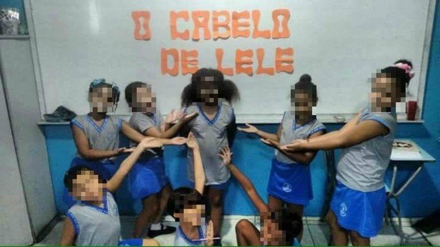 Imagens que mostram crianças com rostos pintados de preto em escola são criticadas, no RJ
