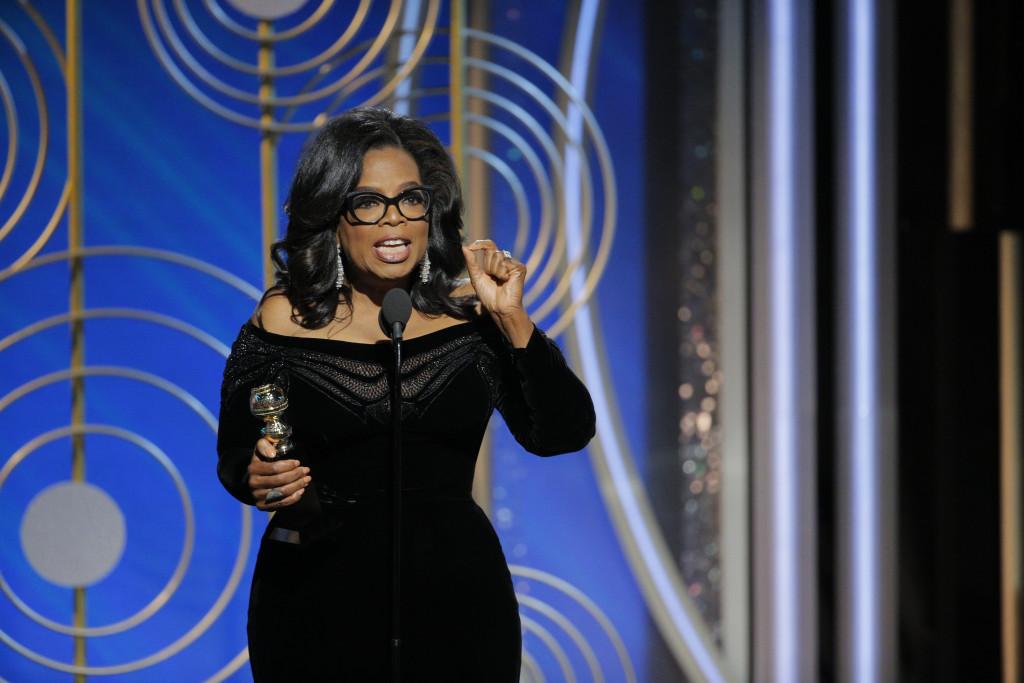 Americanos querem Oprah Winfrey para presidente após fala no Globo de Ouro