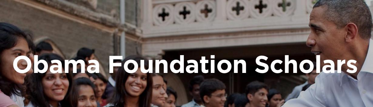 Fundação Obama lança programa de bolsas na Universidade de Chicago
