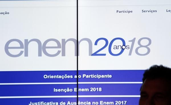 Pedido de isenção no Enem pode ser feito a partir desta segunda, às 10h
