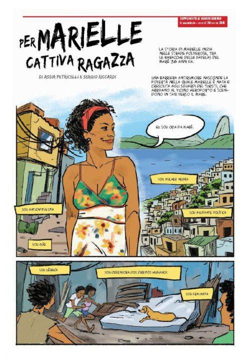 Jornal italiano publica HQ sobre Marielle Franco