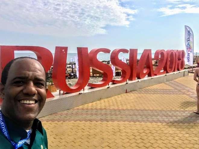 Exclusivo da Rússia: titular da telinha na Copa, confira o bate-bola com o repórter Abel Neto sobre futebol, racismo e vinhos, sua paixão