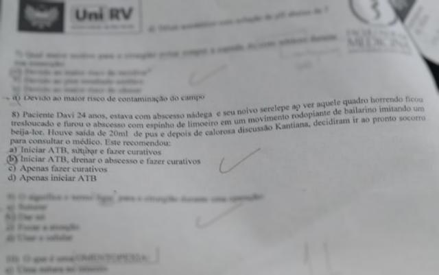 Alunos denunciam questão de prova com suposto teor homofóbico em prova de faculdade de medicina de Goiás