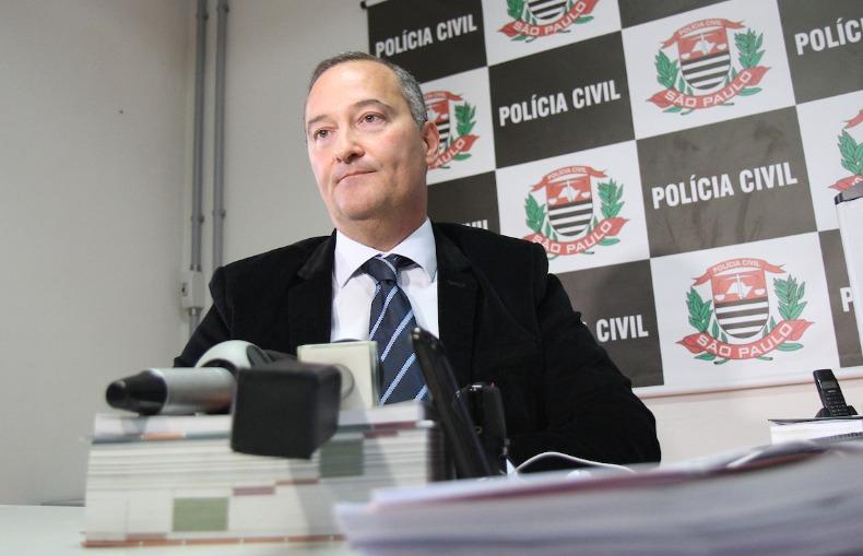 O delegado do 7º DP, Cássio Vita Biazolli (Foto: Luciano Claudino/Código 19)