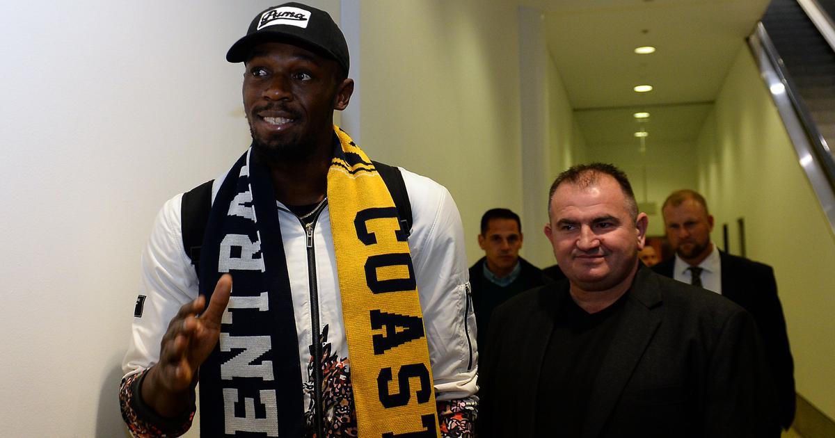 Usain Bolt desembarca na Austrália para treinar com time de futebol