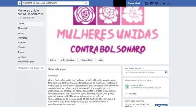 Mulheres se unem nas redes sociais para frear Bolsonaro