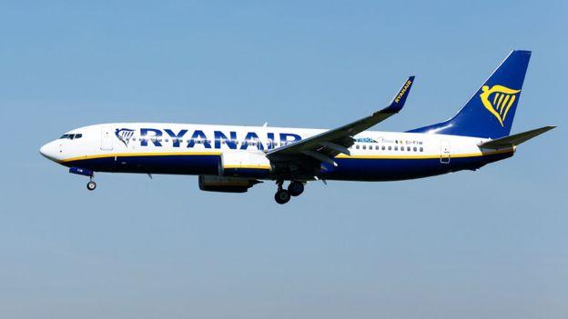 Ryanair afirmou que notificou a polícia britânica e que vai investigar episódio. Foto : PA