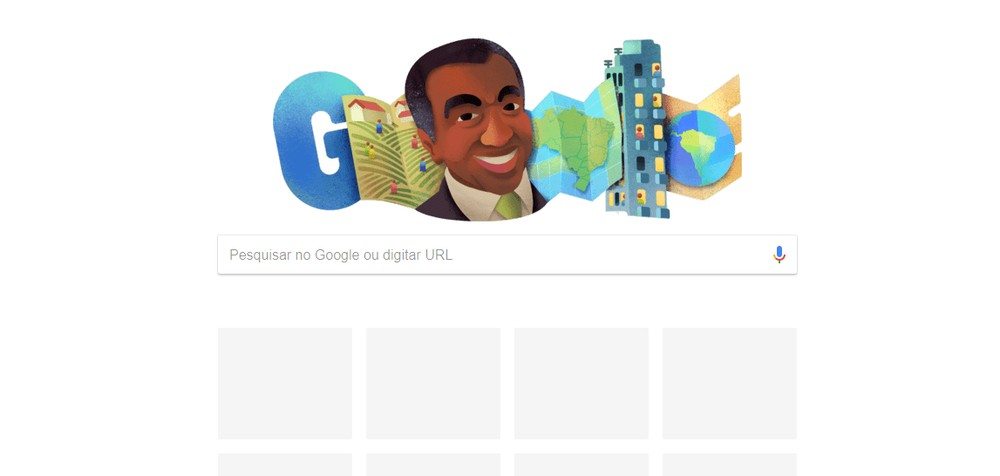 Doodle do Google presta homenagem a geógrafo brasileiro. — Foto: Google/Reprodução