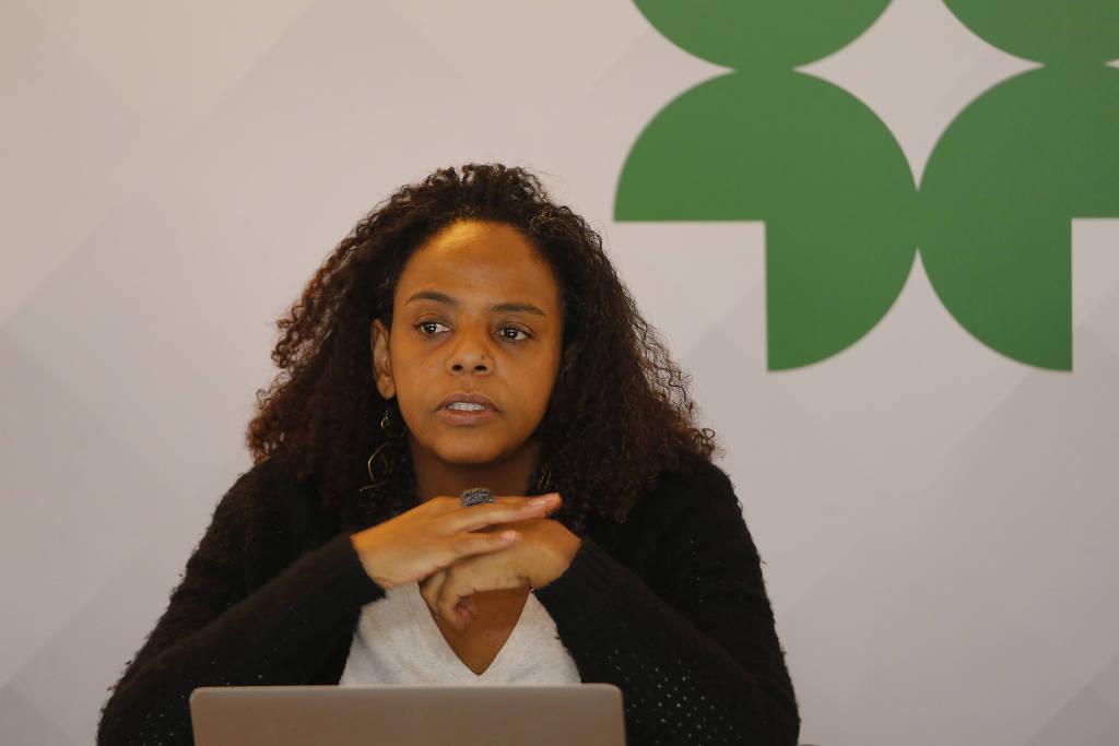 Márcia Lima, durante o seminário Diálogos, no auditório do Cebrap, em 2016 - Moacyr Lopes Junior - 2.mai.16:Folhapress