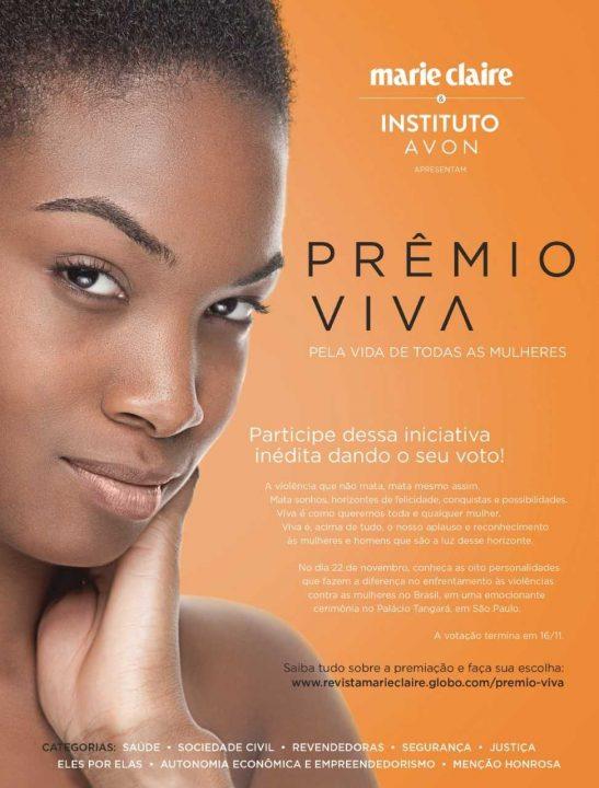 Prêmio Viva: vote até o dia 18 em quem contribuiu para o enfrentamento à violência contra a mulher em 2018