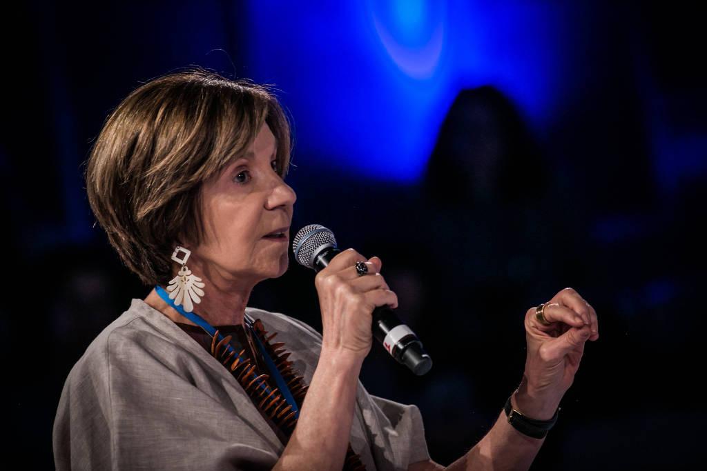Maria Alice Setubal, em evento em São Paulo em 2016 - Bruno Santos - Folhapress